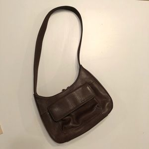 Fossil genuine leather small organizing handbag
